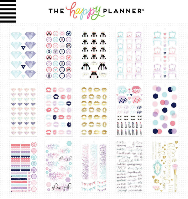 Glam Girl Planner Sticker Pack (861pcs) Design One