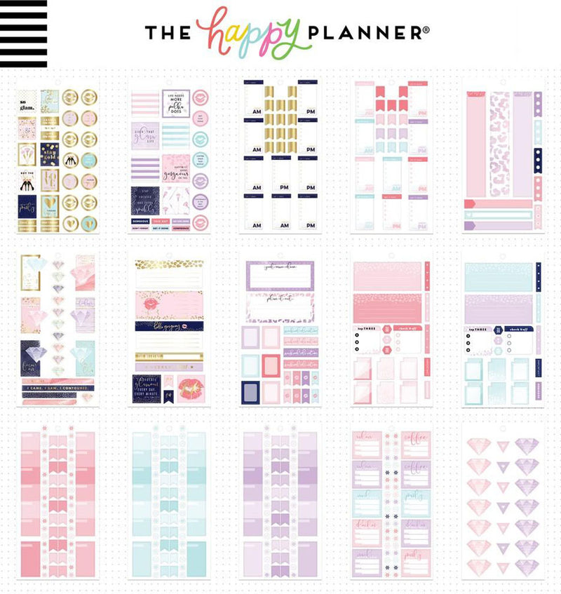 Mini Glam Girl Planner Sticker Pack (975pcs) Design Two