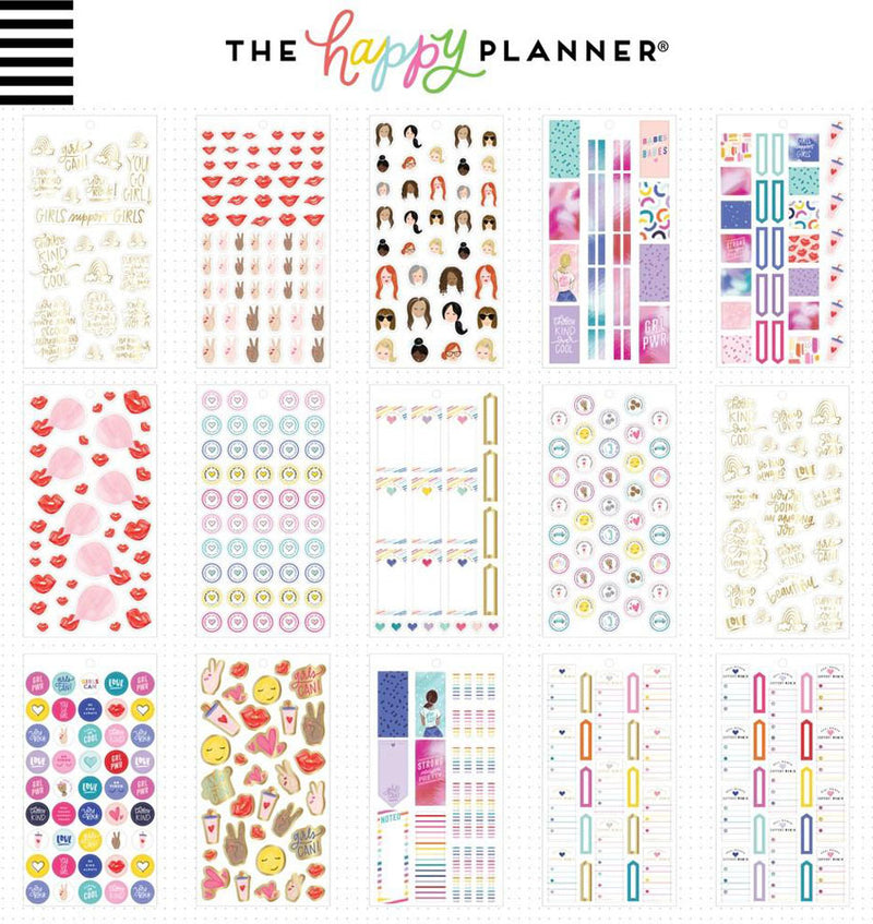 Mini Encourager Planner Sticker Pack (1161pcs) Design One