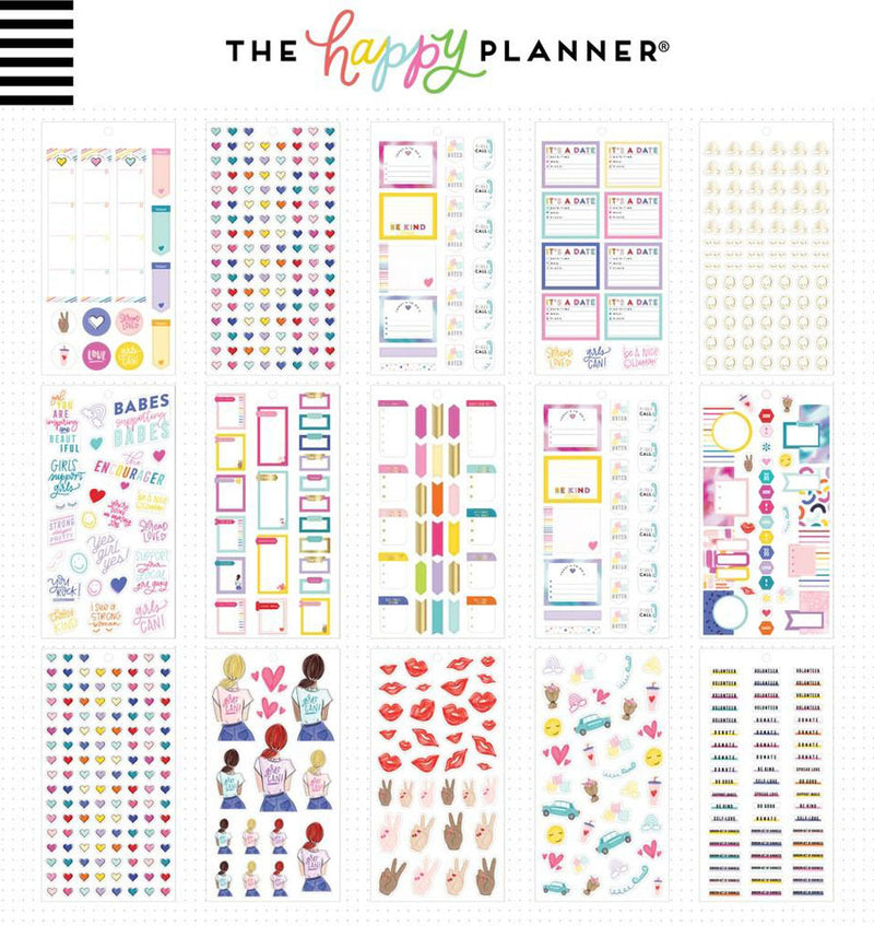 Mini Encourager Planner Sticker Pack (1161pcs) Design Two