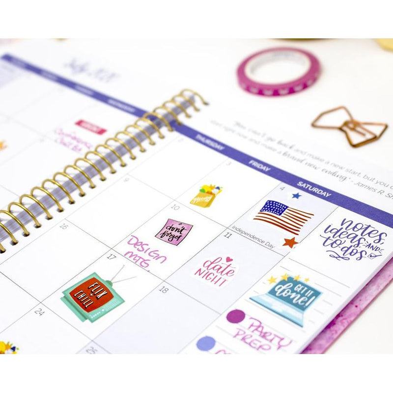Bloom Paint Marbling 2020 Soft Cover Daily Planner Monthly Layout