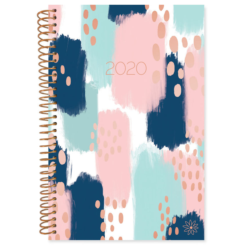 Bloom Paint Strokes 2020 Soft Cover Daily Planner