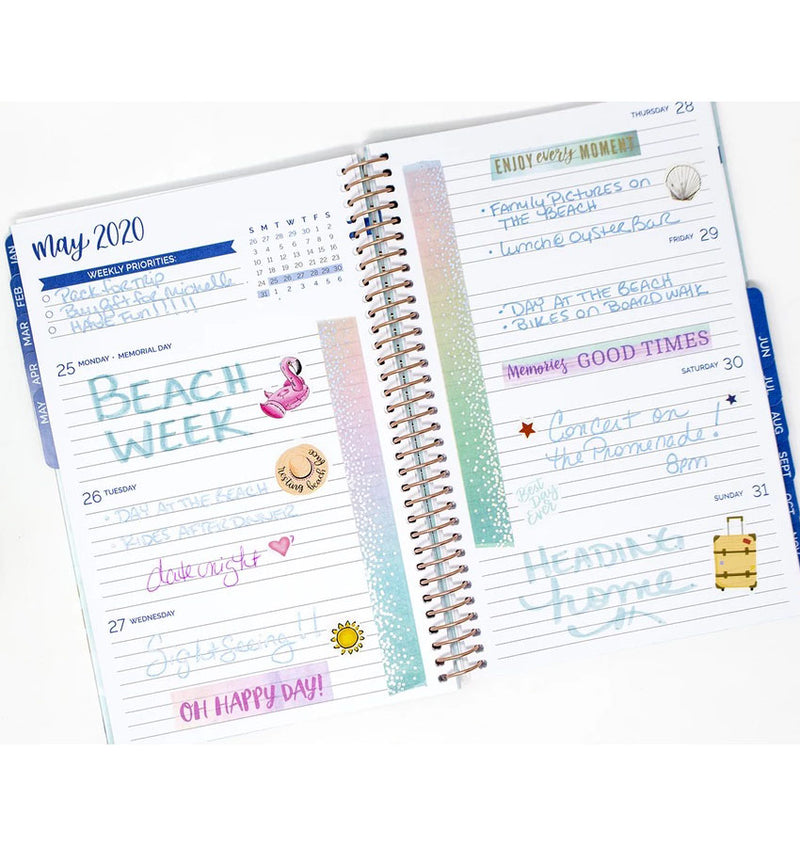 Bloom Paint Strokes 2020 Soft Cover Daily Planner Weekly Layout
