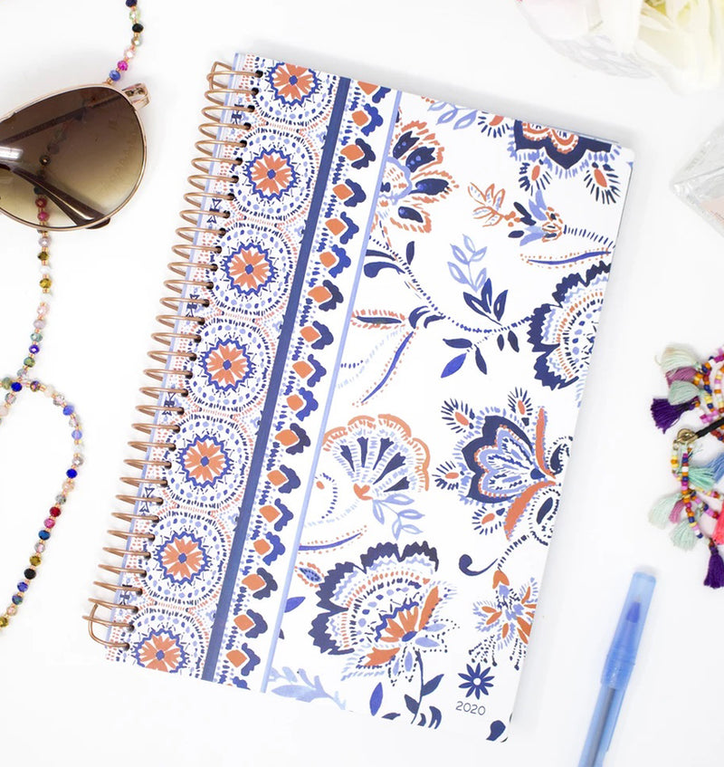 Bloom Paisley 2020 Soft Cover Daily Planner Display