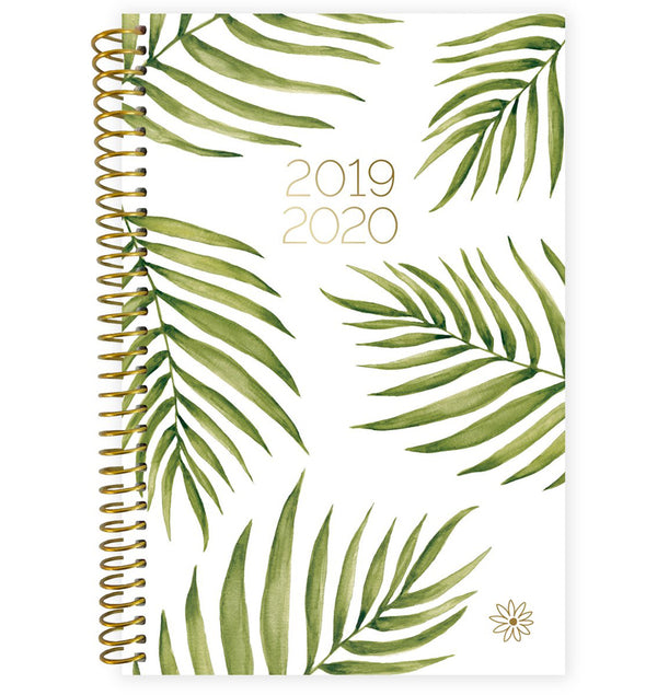 Palm Leaves 2019-2020 Bloom Soft Cover Daily Planner