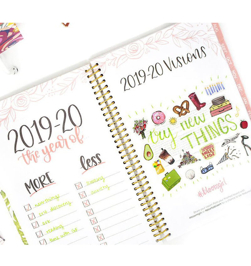 Palm Leaves 2019-2020 Bloom Soft Cover Daily Planner Visions