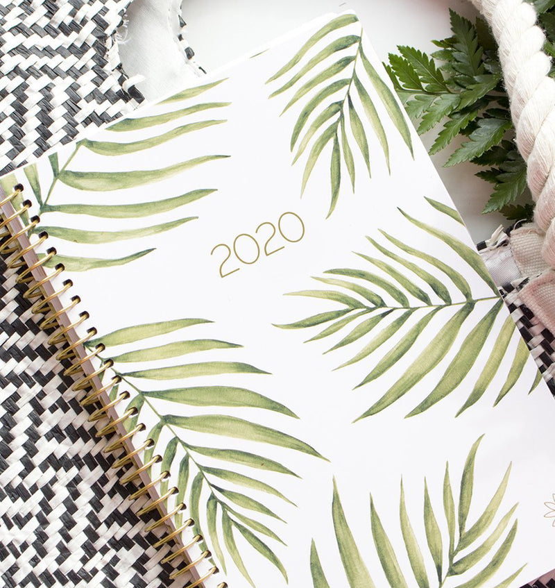 Palm Leaves 2020 Soft Cover Daily Planner