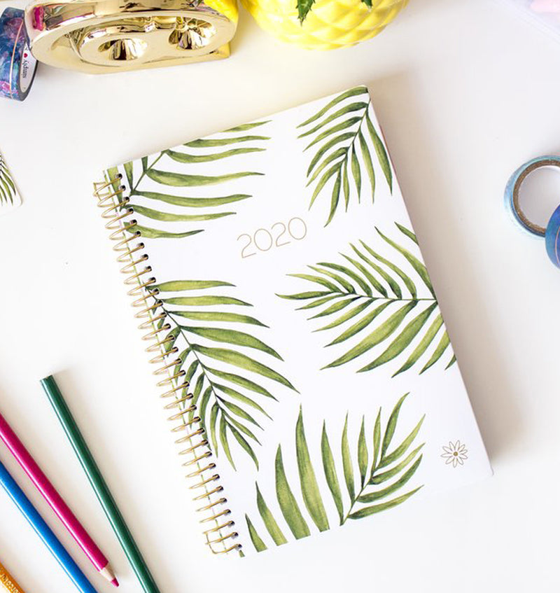 Bloom Palm Leaves 2020 Soft Cover Daily Planner Display