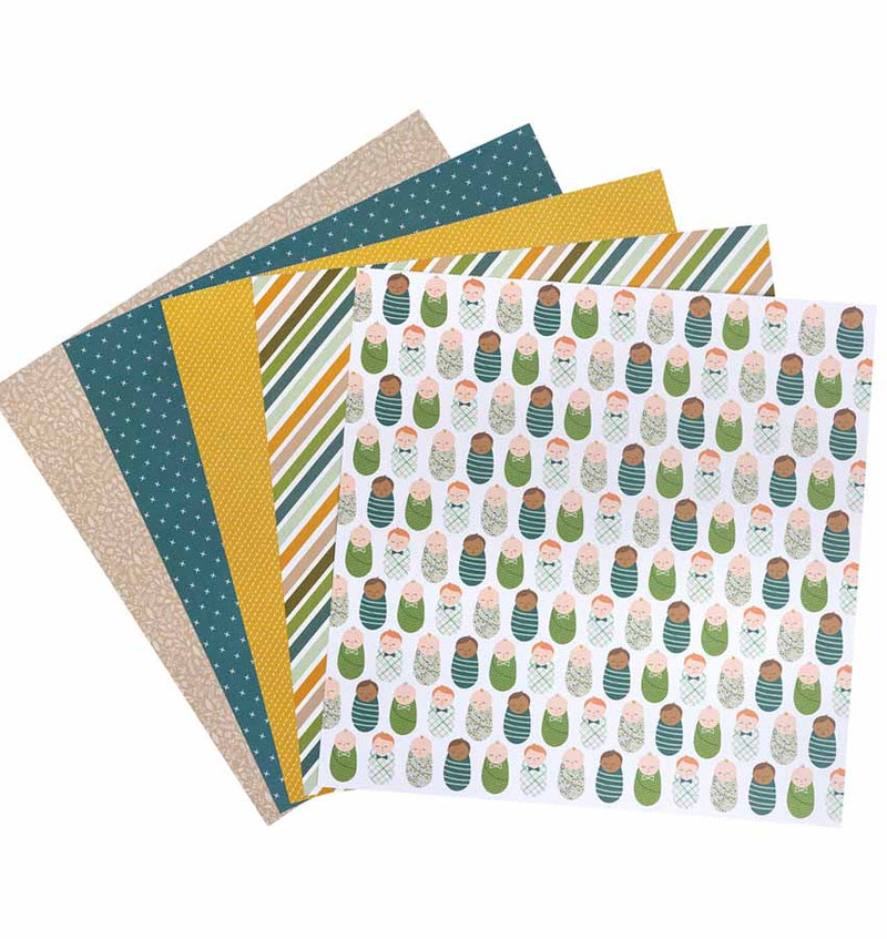 Peek-A-Boo You Boy 12 x 12 Paper Pad 36pcs