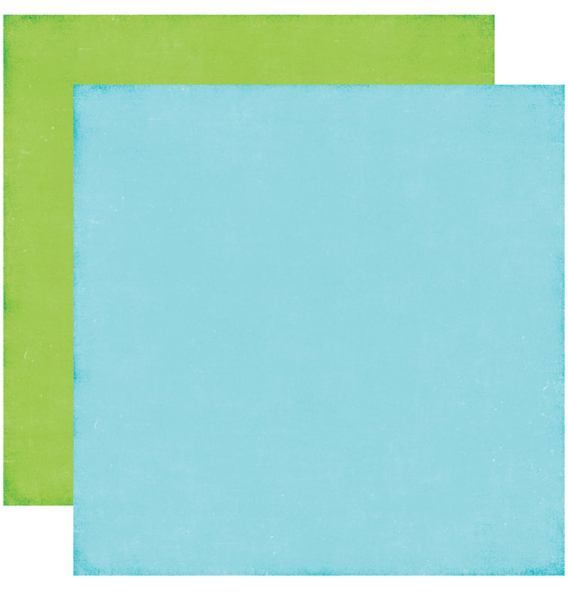 Echo Park Perfect Princess Solid Kit, 12x12 Blue Green Cardstock Paper