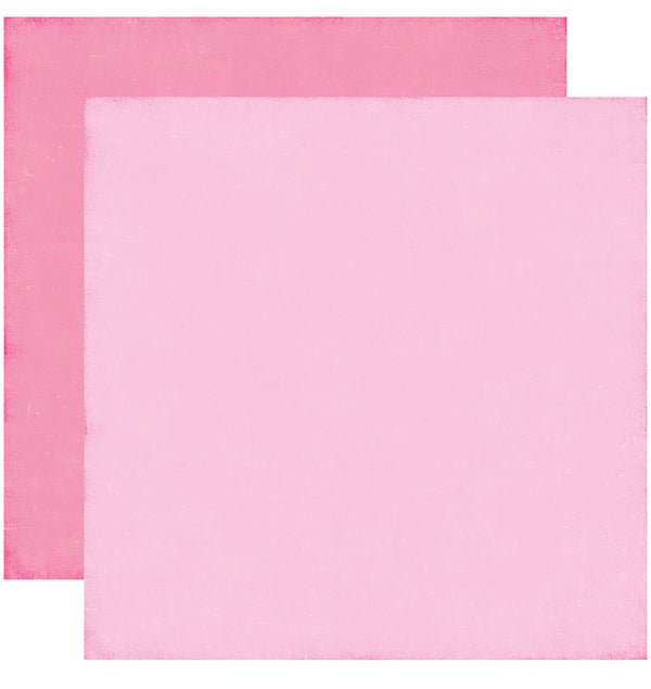 Echo Park Perfect Princess Solid Kit, 12x12 Light Pink Dark Pink Cardstock Paper