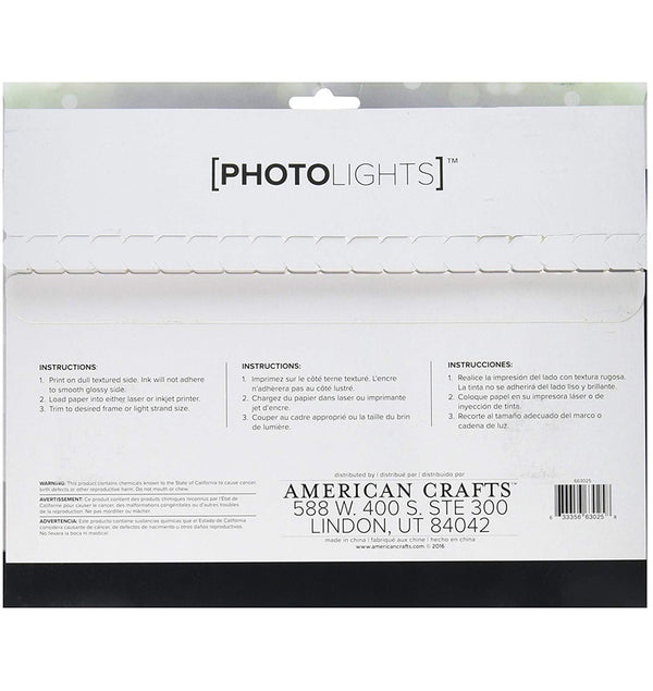 Photo Lights Backlit Film Paper 6pcs