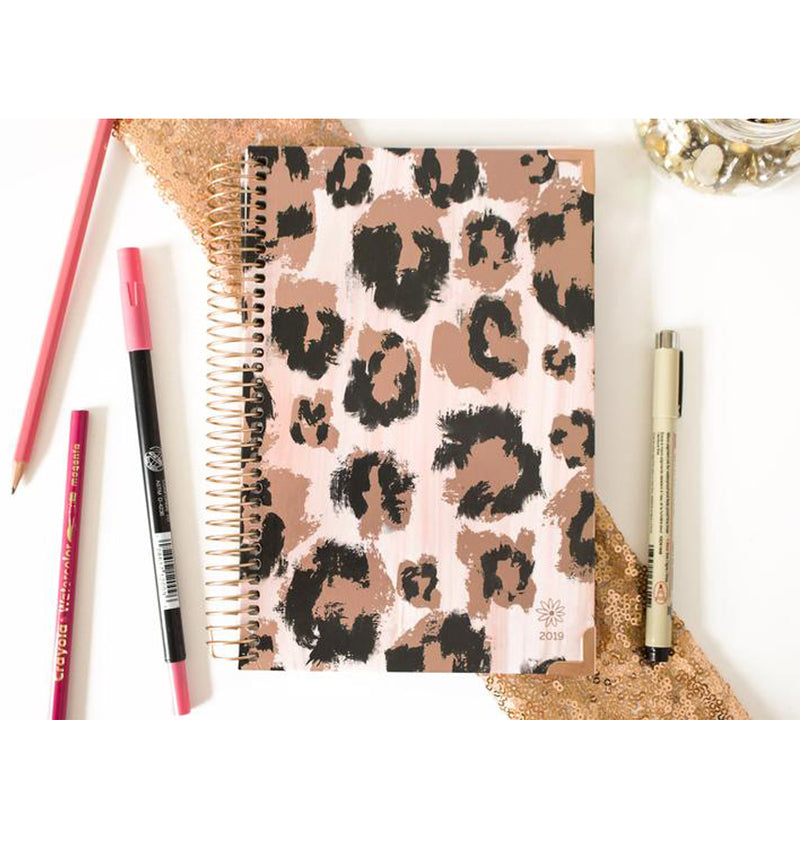 Pink Leopard 2019 Hard Cover Daily Planner