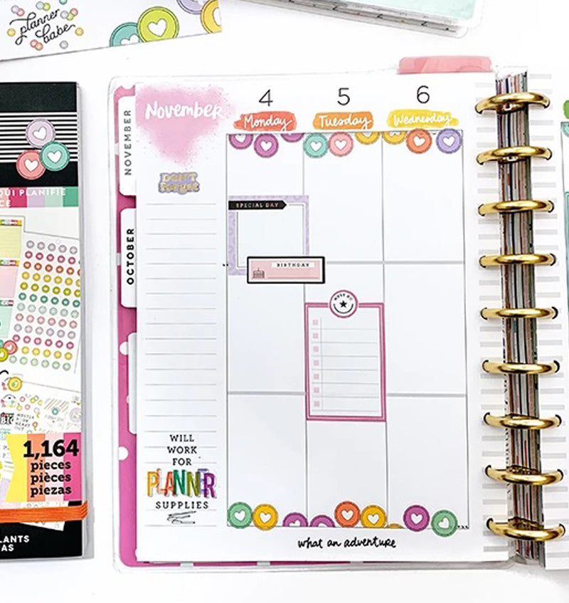 Planner Babe Stripe 2020 Deluxe Classic Medium Happy Planner
