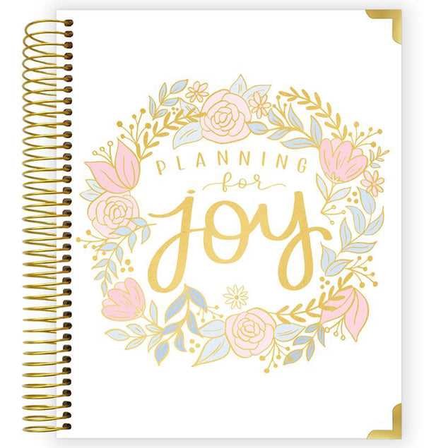 Bloom Pregnancy & Baby's First Year Hard Cover Planner Undated Front Cover Design, Planning For Joy at Craftforher