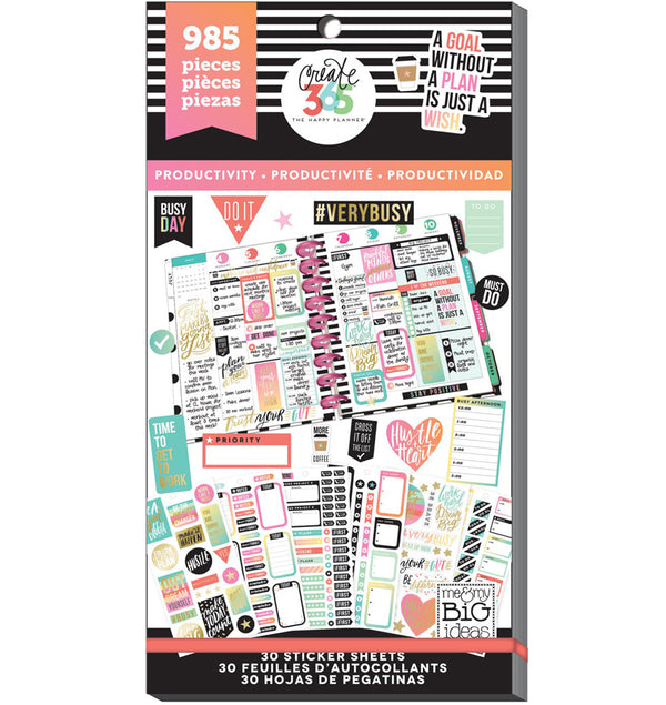 Productivity Planner Sticker Pack (985pcs)