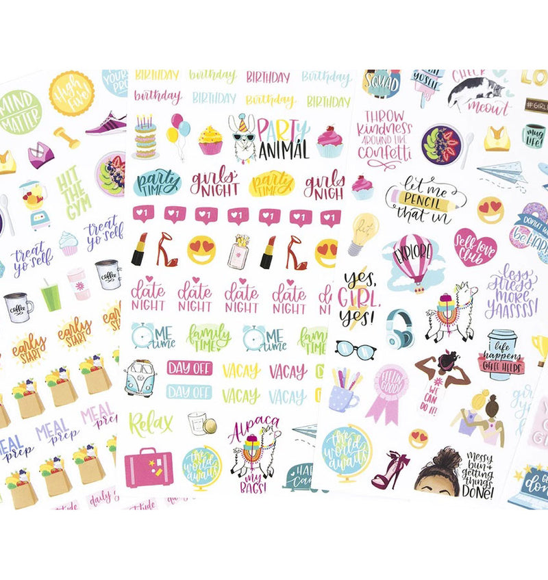Productivty V2 Planner Sticker Sheets 6pcs