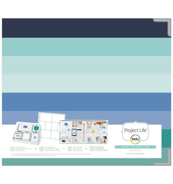 Project Life 12 x 12 Baby Boy D-Ring Matte Paper Album