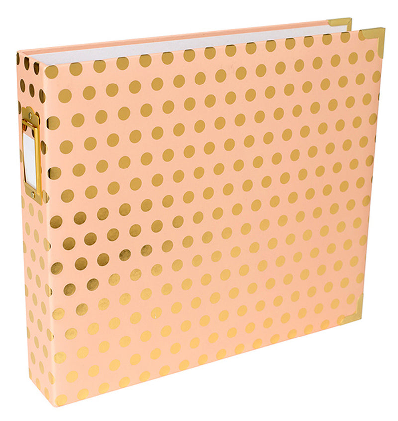 Project Life 12 x 12 Blush with Gold Dots D-Ring Album