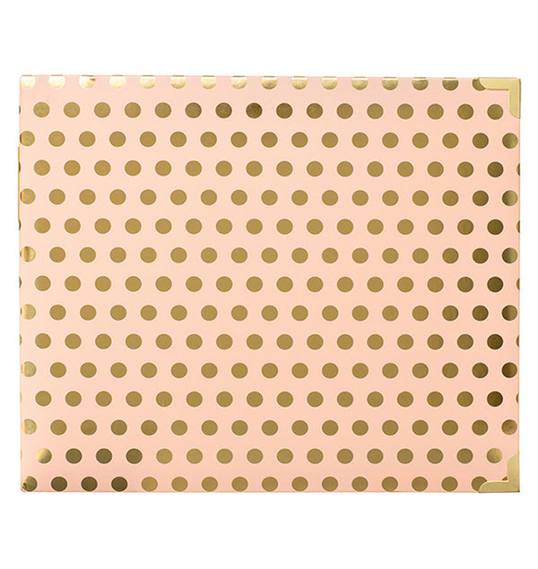 Project Life 12 x 12 Blush with Gold Dots D-Ring Album Back