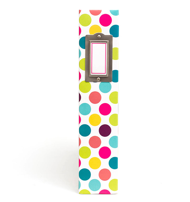 Project Life 12 x 12 Bold Dots D-Ring Album Side