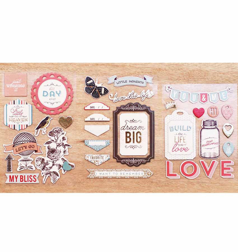 Adventure Chipboard Stickers 33pcs