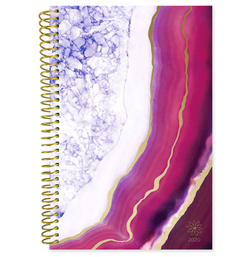 Bloom Purple Agate 2020 Soft Cover Daily Planner