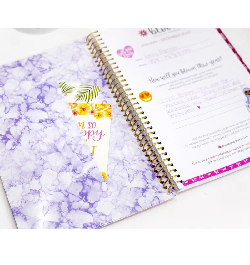 Bloom Purple Agate 2020 Soft Cover Daily Planner Front Slot