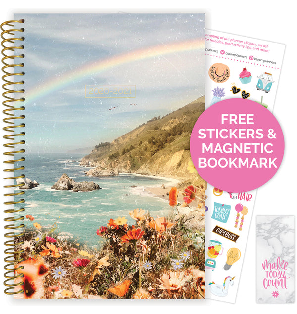 Rainbow Coast 2020-2021 Soft Cover Daily Planner