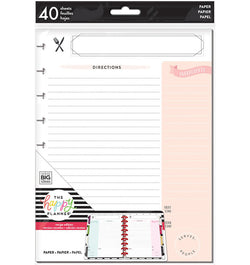 Recipe Note Paper (Classic Happy Planner) 40pcs