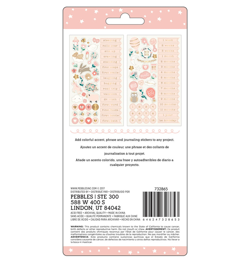 Repeat Baby Girl Stickers with Foil Accents Back