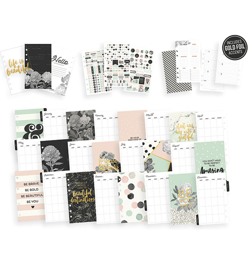 Simple Stories Blush Personal Planner Boxed Set Undated Stickers and Inserts