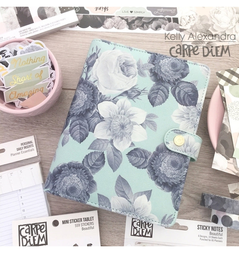 Simple Stories Mint Vintage Floral Planner