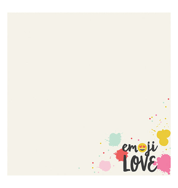 Simple Stories Emoji Love HAHA 12 x 12 Double Sided Paper Front