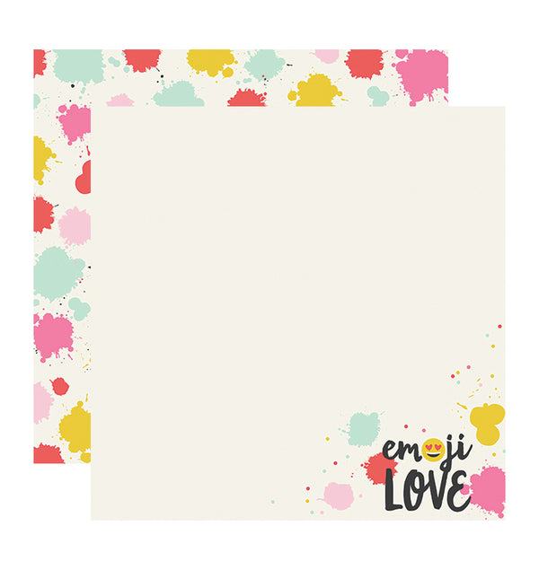 Simple Stories Emoji Love HAHA 12 x 12 Double Sided Paper