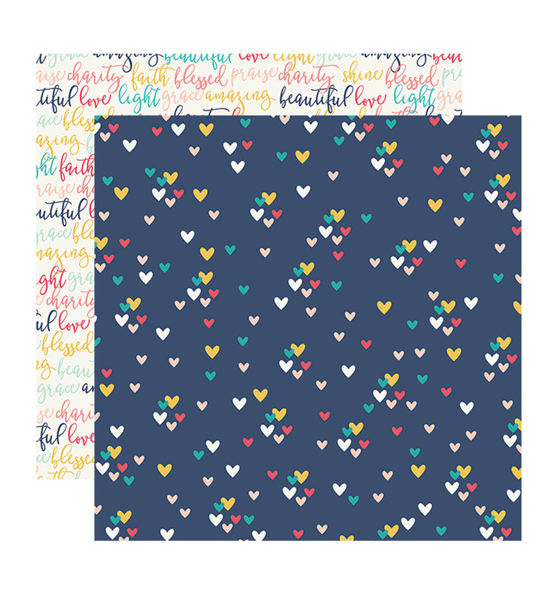Simple Stories Faith Love 12 x 12 Double-Sided Patterned Paper