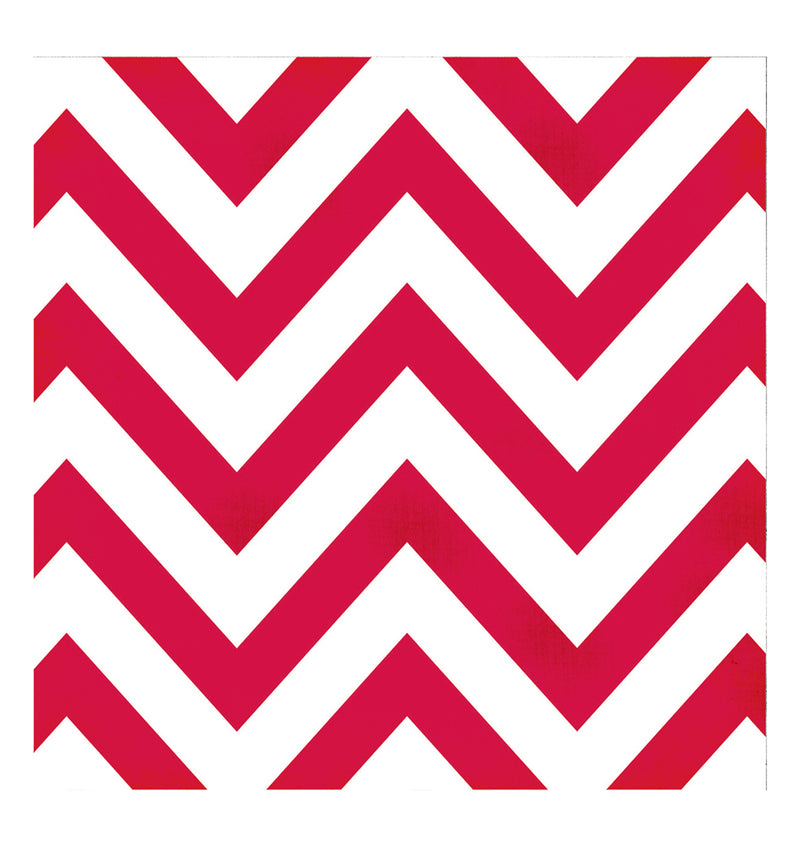 Simple Stories Red Chevron 12 x 12 Double Sided Patterned Paper