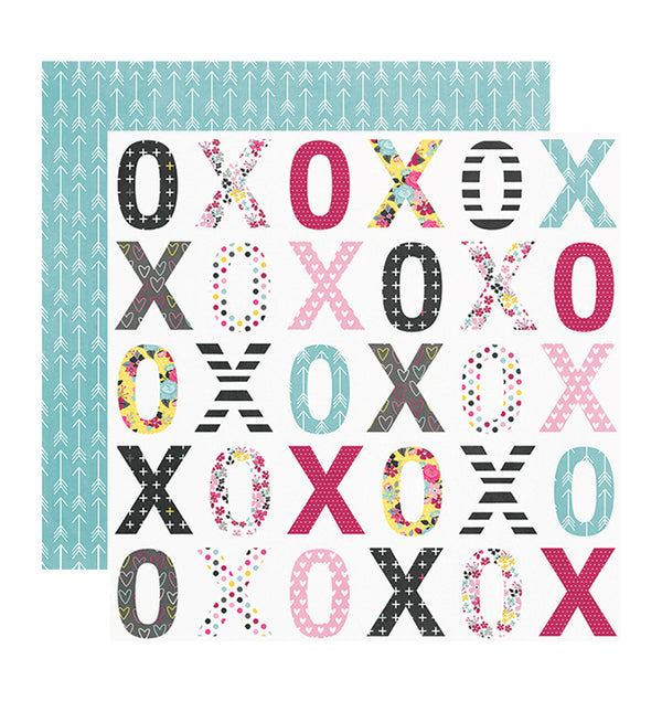 "Simple Stories Sealed with a Kiss 12"" x 12"" Double Sided Patterned Paper"