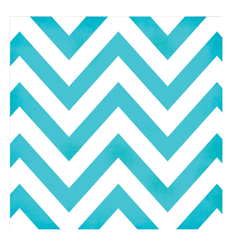 Simple Stories Teal Chevron 12 x 12 Double-Sided Patterned Paper