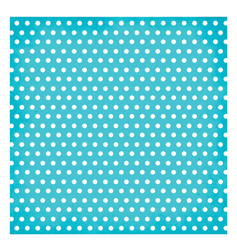 Simple Stories Teal Dot 12 x 12 Double-Sided Patterned Paper