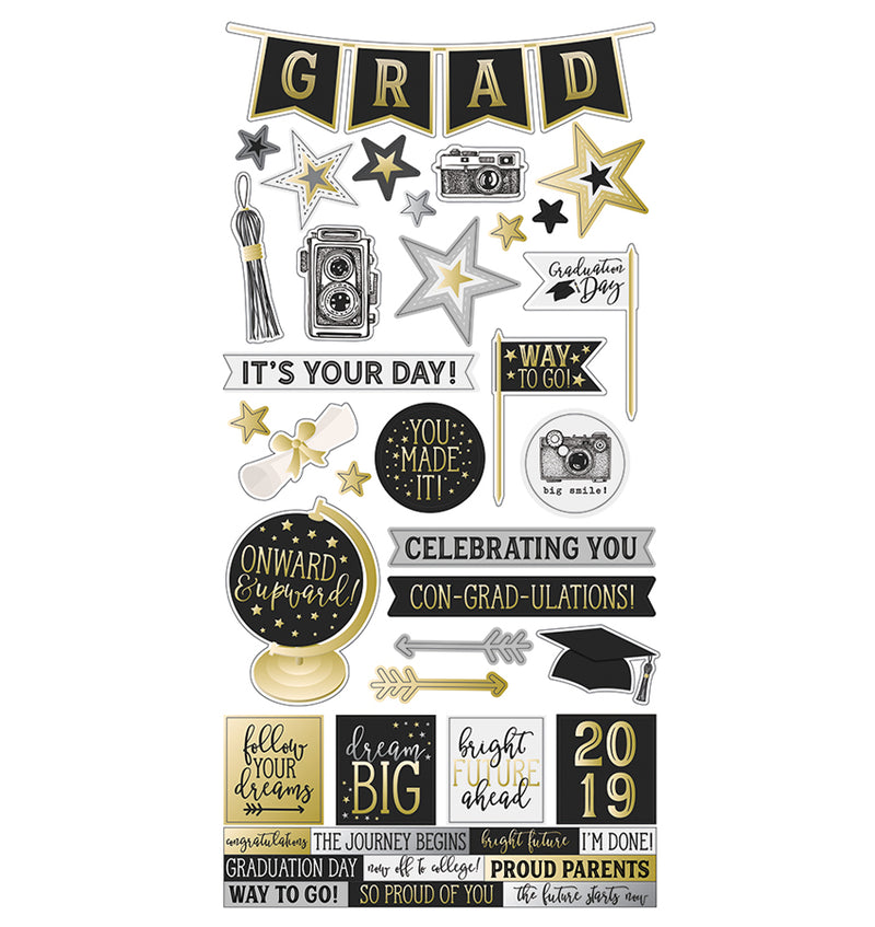 Simple Stories Con-grad-ulations 6x12 Sticker Sheet