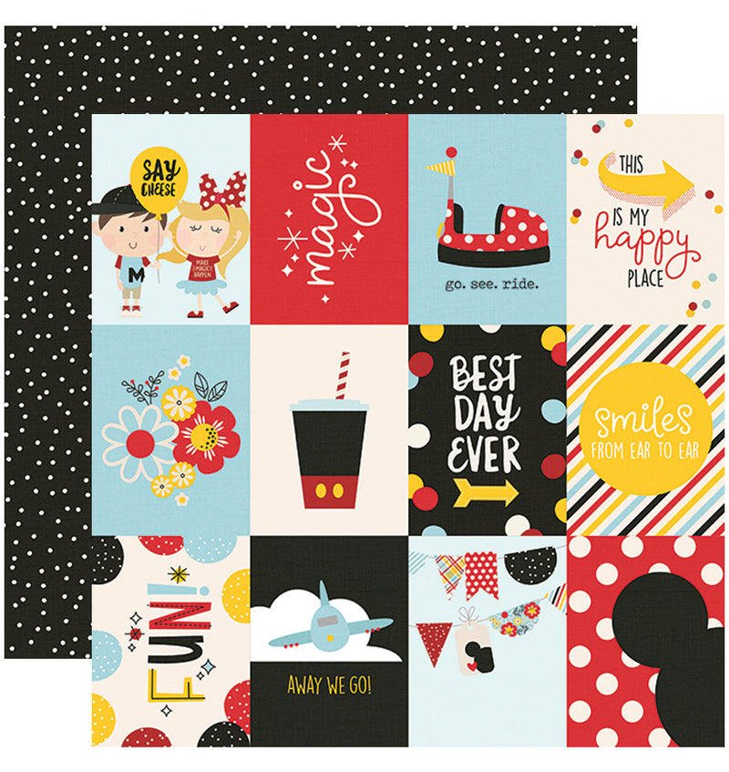 Simple Stories Say Cheese 4, 12x12 3x4 Element Cardstock Paper
