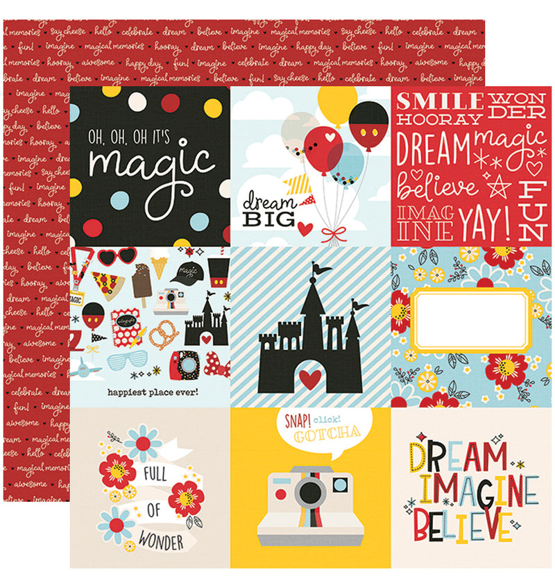 Simple Stories Say Cheese 4, 12x12 4x3 Element Cardstock Paper