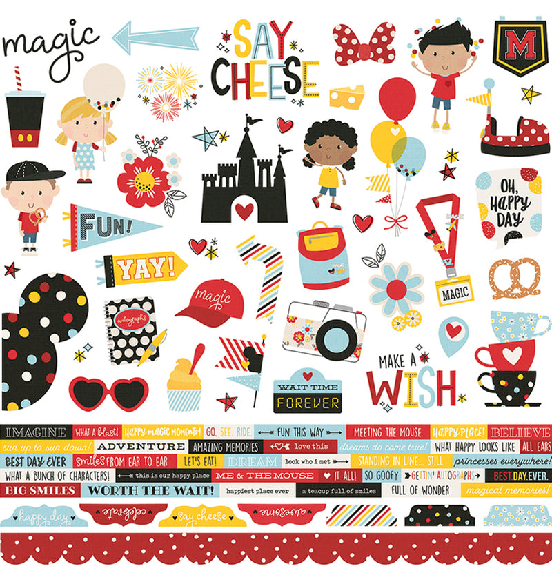 Simple Stories Say Cheese 4, 12x12 Element Sticker Sheet