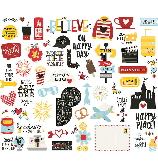 Say Cheese 4 Bits & Pieces Die Ephemera Cuts (54pcs)