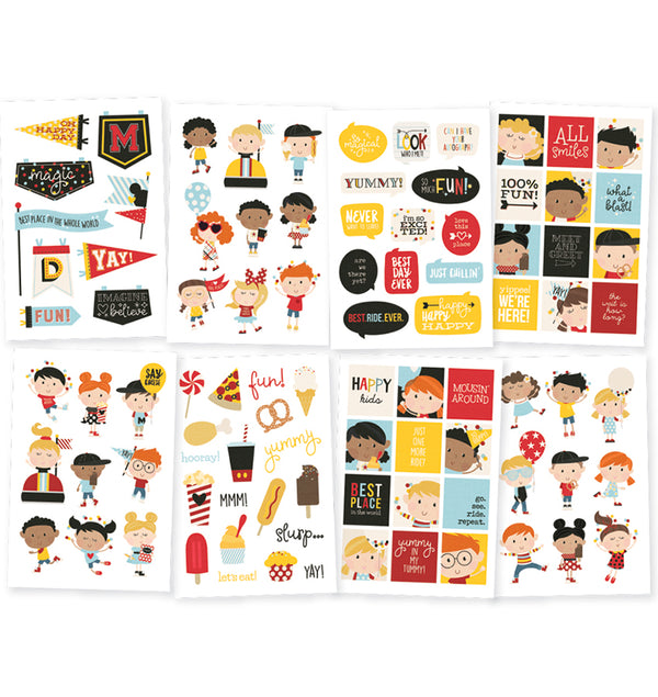 Simple Stories Say Cheese 4 Happy Kids 4x6 Sticker Sheets (8pcs)
