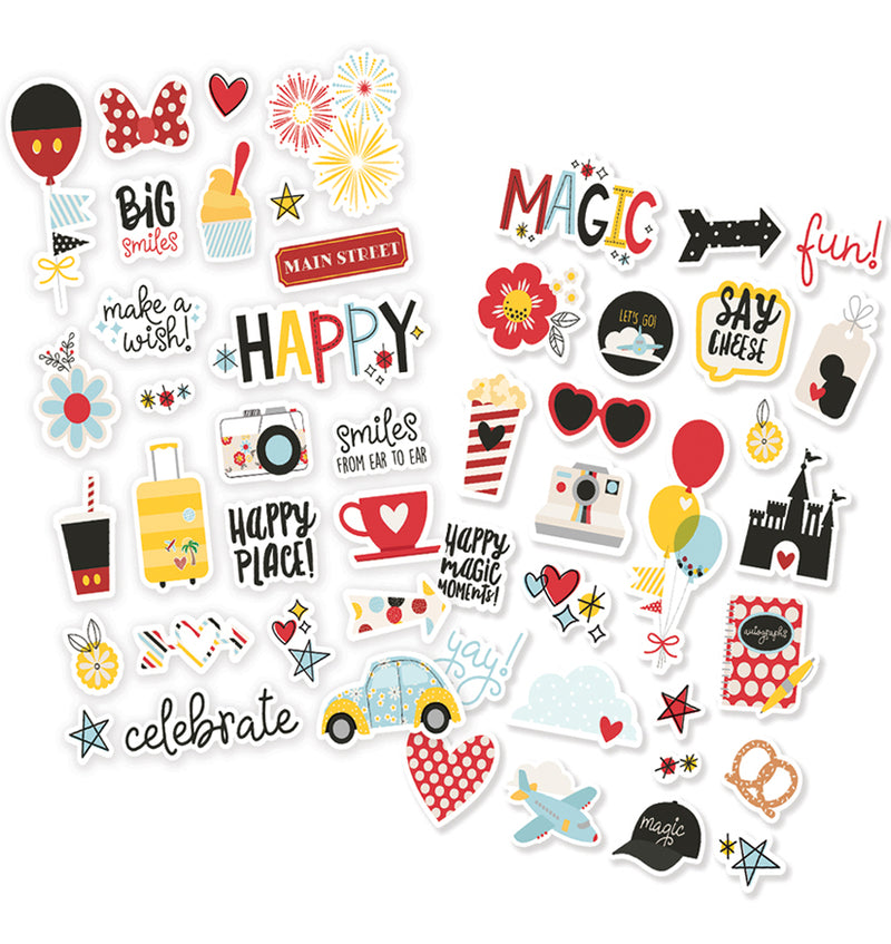 Simple Stories Say Cheese 4 Puffy Stickers 50pcs