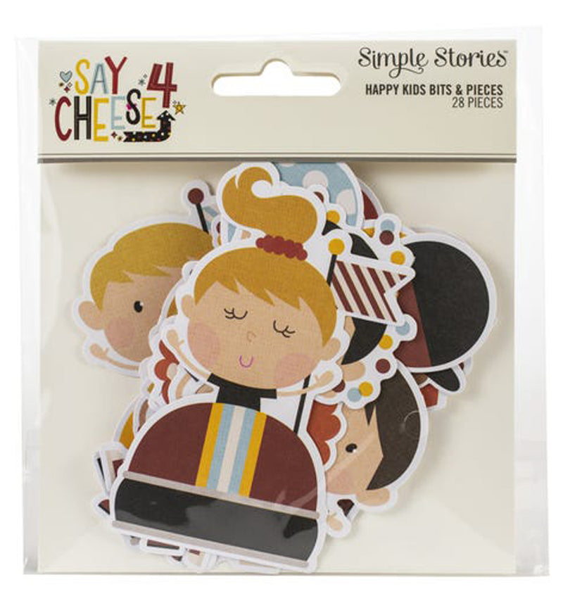 Say Cheese 4 Happy Kids Die Cuts (28pcs) Packaging