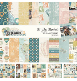 Simple Stories Simple Vintage Traveller 12x12 Collection Kit