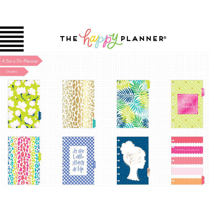Southern Preppy 2019 - 2020 Mini Happy Planner (12 Months) Dividers